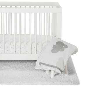 Crib Bedding Set In the Clouds 4pc - Cloud Island™ Platinum