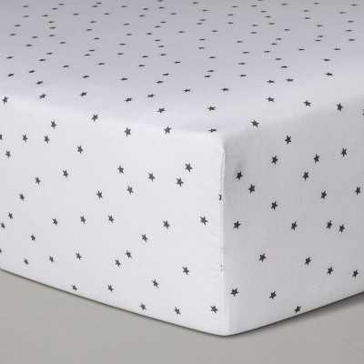 Baby Fitted Sheet - Cloud Island™ White Gray