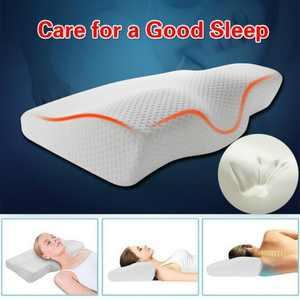 Anti Snore Slow Rebound Memory Foam Pillow Cervical Contour Pillow Health Pillow for Neck Pain Back/Side Sleepers with Washable Pillow Case