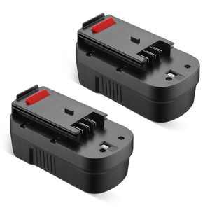 Powerextra 2-Pack 18 Volt 3700mAh Battery for Black & Decker HPB18 HPB18-OPE FS18FL FSB18 Firestorm