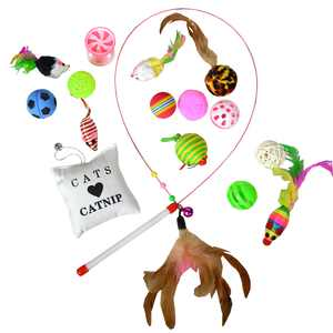 Best Value Variety Bundle Set with Wand Cat Toy, 16 Count