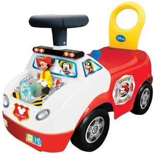 Kiddieland Disney Mickey Mouse Fire Truck Activity Interactive Ride On Car, Red