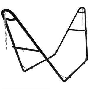 Steel Multi-Use Hammock Stand - Black - Sunnydaze Decor