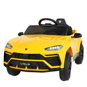 Tobbi 12V Licensed Lamborghini SUV Car Ride On Car for Kids with Remote Control Electric Battery Powered Toy Car with MP3, Music, Horn, USB, Yellow