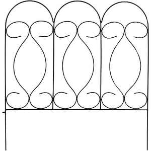 "24"" x 10' Traditional Border Fence 5pc - Black - Sunnydaze Decor"