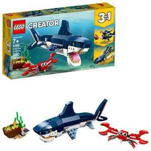 LEGO Creator Deep Sea Creatures Building Kit Sea Animal Toys for Kids 31088