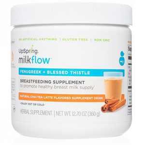 Milkflow Fenugreek + Blessed Thistle Chai Tea Latte Breastfeeding Supplement Drink -12.7oz