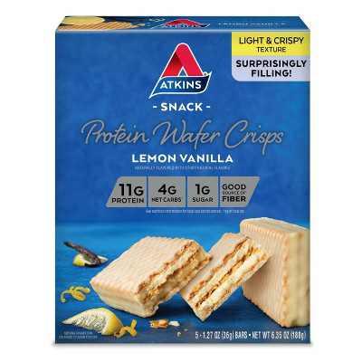 Atkins Protein Wafer Crisps - Lemon Vanilla - 5ct