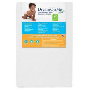 "Dream On Me 3"" Extra Firm Portable Crib Mattress - White"