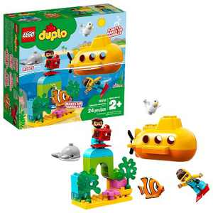 LEGO DUPLO Submarine Adventure Bath Toy Building Set for Toddlers with Toy Submarine 10910