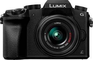 Panasonic - LUMIX G7 Mirrorless 4K Photo Digital Camera Body with 14-42mm f3.5-5.6 II Lens - Black
