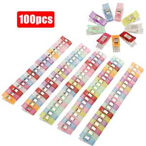TSV 100Pcs Colorful Sewing Clips Binding Clips for Crafts Quilting Sewing Knitting Crochet