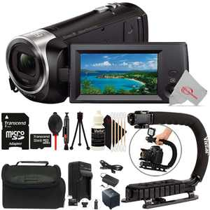 SONY HDR-CX405 HD Handycam Camcorder Top Accessory Bundle
