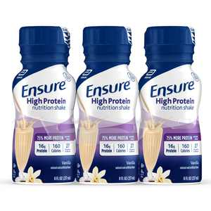 Ensure High Protein Nutritional Shake with 16g of High-Quality Protein, Ready-to-Drink Meal Replacement Shakes, Low Fat, Vanilla, 8 fl oz, 6 Count