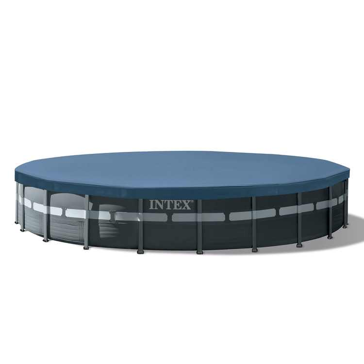 """Intex 26' x 52"""" Ultra Frame Above Ground Swimming Pool Set with Pump and Ladder"""