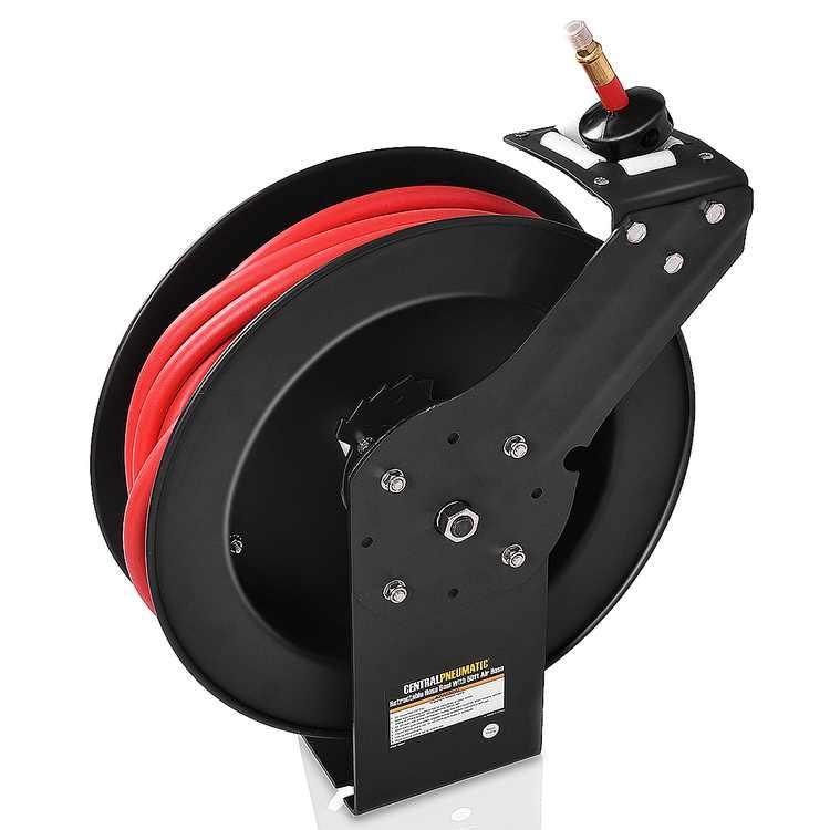 Gymax 3/8'' x 50' Auto Rewind Retractable Air Hose Reel Compressor 300 PSI