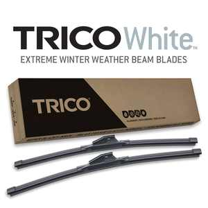 """TRICO White Extreme Weather Winter Beam Wiper Blade Twin Pack (26"""", 17"""")"""
