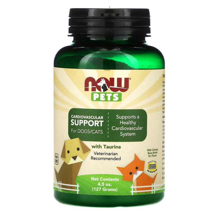 Now Foods Pets, Cardiovascular Support for Dog & Cats, 4.5 oz (127 g)