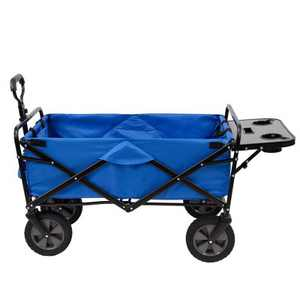 Mac Sports Collapsible Folding Outdoor Garden Utility Wagon Cart w/ Table, Blue