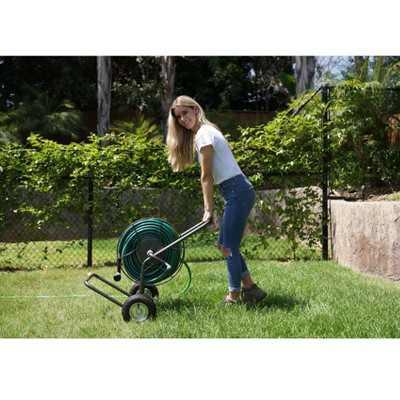 Yard Butler Portable 200 Foot Capacity Steel Garden Outdoor Hose Reel Truck