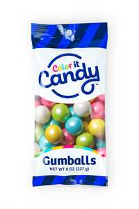 Color It Candy Decorative Gumballs, 8 Oz, Shimmer Spring Mix