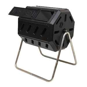 FCMP Outdoor IM4000 37-Gal Dual-Chamber Quick Curing Tumbling Composter Soil Bin