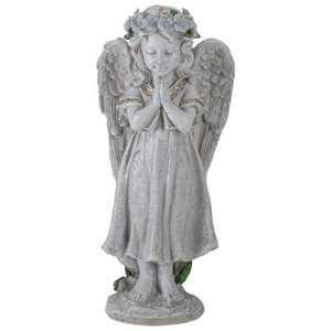"Northlight 10"" Gray Praying Angel Girl Outdoor Patio Garden Statue"