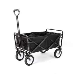 Mac Sports Collapsible Folding Frame Outdoor Garden Utility Wagon Cart, Black