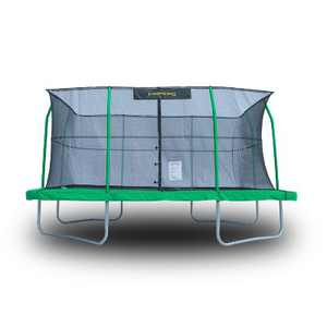 JumpKing JKRC1014C3 10 x 14 Foot Rectangular Trampoline with Safety Net Siding