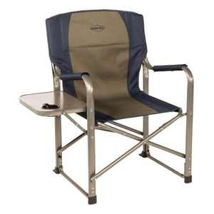 Kamp-Rite CC105 Outdoor Tailgating Camp Durable Folding Director's Chair with Side Table, Cup Holder, and Padded Seat
