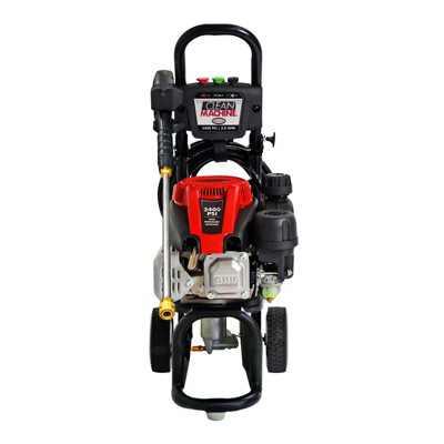 Simpson Clean Machine Steel Gas Powered Engine Pressure Washer With Wand, Black