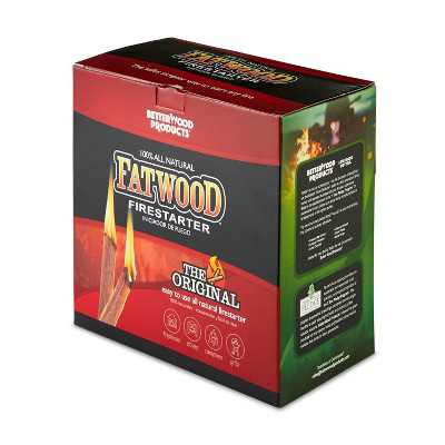 Betterwood Products 9910 Fatwood 10-Pound Natural Wood Firestarter
