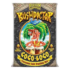 FoxFarm FX14100 Bush Doctor Coco Loco Plant Garden Indoor/Outdoor Coconut Coir Potting Soil Mix for Plants, 2 Cubic Ft.