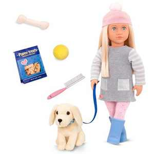 "Our Generation Meagan and Pet Golden Retriever 18"" Doll & Pet Plush Dog Set"