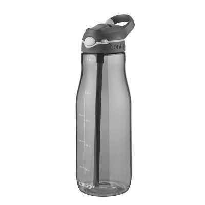 Contigo 40oz Plastic AUTOSPOUT Straw Ashland Water Bottle Gray