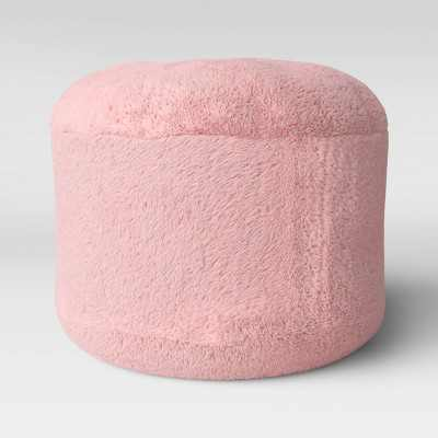 Character Pouf Faux Fur Pink - Pillowfort™