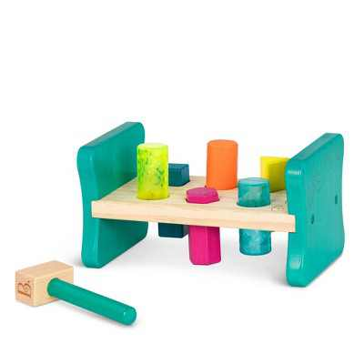 B. toys Wooden Shape Sorter - Colorful Pound & Play