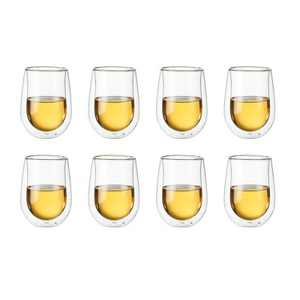 ZWILLING Sorrento 8-pc Double-Wall White Wine Stemless Glass Set