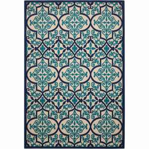 Nourison Aloha ALH14 Navy Indoor/Outdoor Area Rug