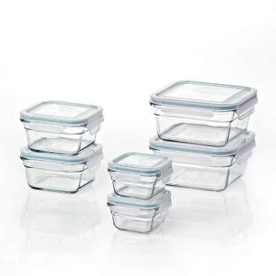 Glasslock Oven and Microwave Safe Glass Food Storage Containers 12 Piece Set