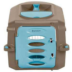 """Suncast Personalizable Deluxe Small Animal Carrier for Pets up to 11.5"""" Tall"""