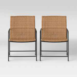 Wexler 2pk Wicker Patio Club Chair - Natural - Project 62™