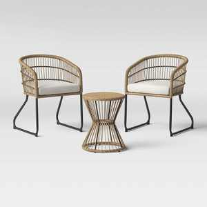 Martii 3pc Patio Chat Set - Natural - Project 62™