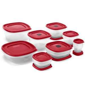 Rubbermaid 28pc Plastic Food Storage Container Set