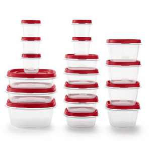Rubbermaid 34pc Plastic Food Storage Container Set
