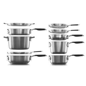 Select by Calphalon 10pc Stainless Steel Space Saving Set
