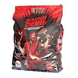 Jealous Devil 100% All Natural Hardwood Lump Charcoal for Grilling and Smoking, 35 Pound Bag