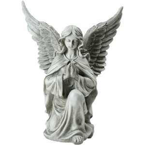"Northlight 13"" Kneeling Praying Angel Religious Outdoor Patio Garden Statue - Gray"