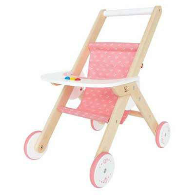 Hape Kids Wooden Babydoll Stroller Baby Toddler Pretend Toy Play Furniture