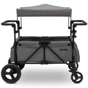 Jeep Wrangler Stroller Wagon with Included Car Seat Adapter by Delta Children - Gray